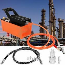 Hydraulic Pump Pneumatic 1.7L Foot Pedal 10000 PSI Reservoir Pump with Hose