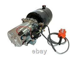 Hydraulic Pump Power Unit Single Acting 12V DC Dump Trailer 8 Quart with Remote
