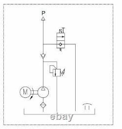 Hydraulic power unit pump 12 V 180 bar 2000W truck, tipper, trailer 11L Dumper