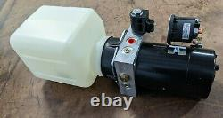 MTE Hydraulic Power Unit 12VDC, Single Acting, 1.2 Gal Poly Res, 2500 PSI Relief