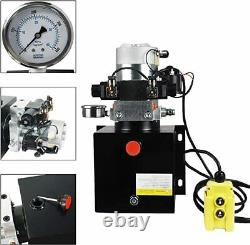 NEW 8 Quart Double 12V Acting Hydraulic Pump 3200 PSI Max. Hydraulic Power Unit