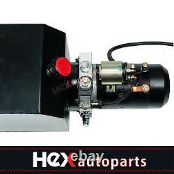 New Single Acting Hydraulic Pump 12v Dump Trailer -10 Quart Metal Reservoir