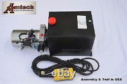 Premium 3215S 12V single Acting Hydraulic Power Unit, 15 Qt Tank, Dump Trailer