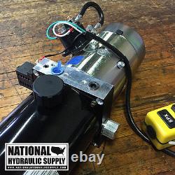 SPX Stone/Fenner 12VDC Single Acting Hydraulic Power Unit, 3-Qt, Pump, Dump, Lift