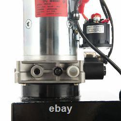 Single Acting Hydraulic Pump 12V Dump Trailer 12 Quart Metal Reservoir