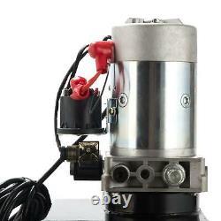 Single Acting Hydraulic Pump 12 Quart 12V DC Dump Trailer Metal Reservoir