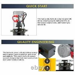 Single Acting Hydraulic Pump 12 Quart 12V DC Dump Trailer Metal Reservoir BPT