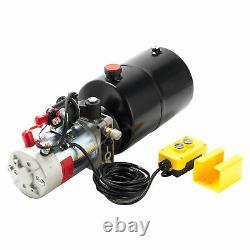 Single Acting Hydraulic Pump 12v Dump Trailer 6 Quart Reservoir