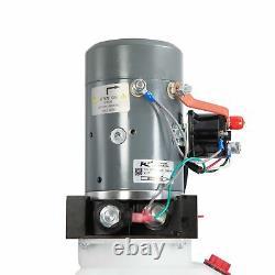 Single Acting Hydraulic Pump For Dump Trailers KTI 12VDC 6 Quart Reservoir