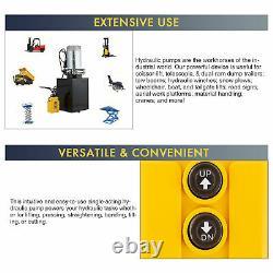 Single Acting Hydraulic Pump for Dump Trailers 12 VDC 10 Quart Metal Reservoir