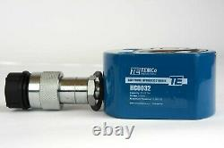 TEMCo HC0032 Low Profile Height Hydraulic Cylinder Puck 20 Ton, 0.43 Stroke