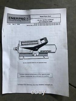 Used Enerpac Pa133 10,000psi Air Hydraulic Pump