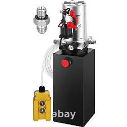 VEVOR 10 Quart Single Acting Hydraulic Pump Dump Trailer Lifting Crane Remote