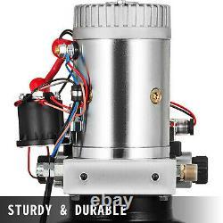 VEVOR 6L Single Solenoid Double Acting Hydraulic Pump Crane Trailer Power Unit