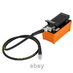 VEVOR Air Power Hydraulic Foot Pump 1/2 Gal Foot Pedal Fuel 10000 PSI