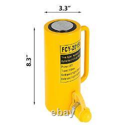VEVOR Hydraulic Cylinder Jack 20T 6 stroke Single Acting10000PSI Jack Ram