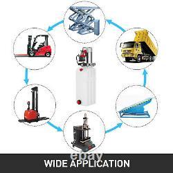 10 Pintes Simple Effet Pompe Hydraulique Dump Remorque Réservoir Grue Réparation