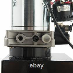 10 Pintes Simple Effet Pompe Hydraulique Remorque À Déchargement Unité D'alimentation Camion À Benne Basculante DC 12v