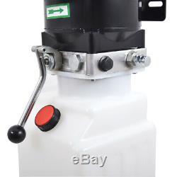 10l Simple Effet Pompe Hydraulique Remorque À Déchargement 220 Voitures Ascenseur Hydraulique Unité D'alimentation