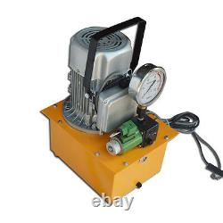 110v 750w Electric Single Oil Tube Hydraulic Pump 10000 Psi (valves Solenoid)