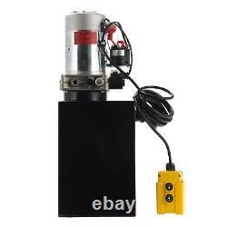 12 Pintes Simple Effet Pompe Hydraulique Remorque À Déchargement Unité D'alimentation Camion À Benne Basculante DC 12v