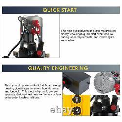 12 Volt Double Acting Hydraulic Pump 12v Dump Trailer 10 Quart Réservoir Métallique