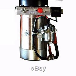 12 Volt Pompe Hydraulique Pour Dump Trailer 10 Pintes En Acier Simple Effet