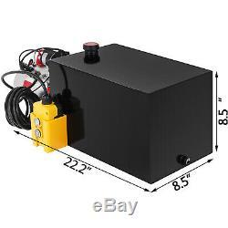 12 Volt Pompe Hydraulique Pour Dump Trailer 15 Pintes En Acier Simple Effet De Levage
