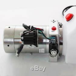 12 Volt Pompe Hydraulique Pour Dump Trailer 8 Pintes Poly Simple Effet