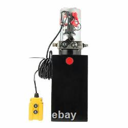 12 Volt Simple Effet Pompe Hydraulique Pour Remorque Benne 10 Quart Réservoir Métallique