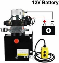 12v 8l Double-acting Hydraulic Pump Power Unit Dump Trailer Withpressure Gauge États-unis