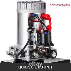 13 Quart Single Acting Hydraulic Pump Dump Trailer Déchargement Unit Pack 12v