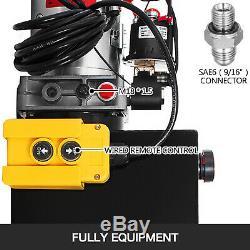 15 Pintes Simple Effet Pompe Hydraulique Remorque À Déchargement D'alimentation 12v Unité De Levage