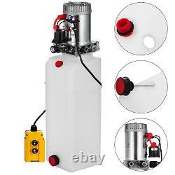 15 Quart Single Acting Hydraulic Pump Dump Trailer Control Kit Remote Power Unit (en Français Seulement)
