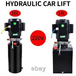220v Car Lift Hydraulic Power Unit Single Acting Hydraulic Pump Vehicle Hoist (en)