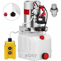 4 Pintes Simple Effet Pompe Hydraulique Remorque À Déchargement Électrique Unité Voiture Lifting