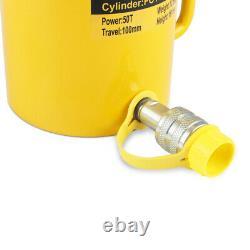 50 Tonnes 4 100mm Stroke Single Acting Hydraulic Cylinder 10000psi Jack Ram