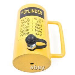50 Tonnes Hydraulique Cylindre Jack 6 Stroke Simple Action Jack Ram 150mm 953cc