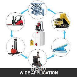 6 Pintes Simple Effet Pompe Hydraulique Remorque À Déchargement Lift 12v Kit De Contrôle