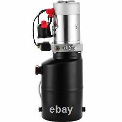 6 Quart 12v Pompe Hydraulique À Action Unique Remorque Décharge De L'unité De Levage