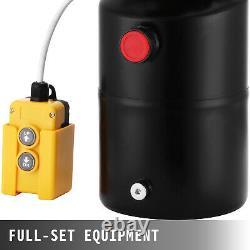 6 Quart 12v Pompe Hydraulique À Action Unique Remorque Unité De Déchargement De Fer