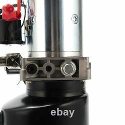 6 Quart Pompe Hydraulique À Action Unique Remorque D'alimentation Hydraulique 12v