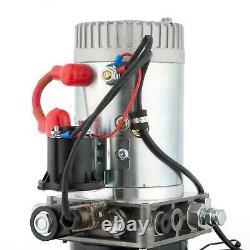 8 Pintes Simple Effet Pompe Hydraulique Réparation Dump Remorque Unité D 'emballage