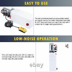8 Quart 12v Pompe Hydraulique À Action Unique Pour Woodsplitter Dump Bed Tow Plow Plus