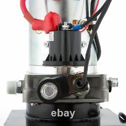 8 Quart Single Acting Hydraulic Pump Dump Trailer Unit Pack Repair 12v