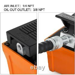 Air Powered Hydraulic Pump Foot With Hose And Spray Gun 10000 Psi 1/2 Gal Post
