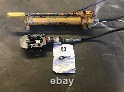 Coupeur Hydraulique De Câble De Huskie Avec La Pompe À Main D'enerpac