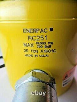 Cylindre Hydraulique Enerpac 25 Tonnes Rc-251 Rc251 Nouveau 1701c USA 1