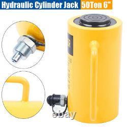 Cylindre Hydraulique Jack 50 Tons 6 Atteinte Simple Actionné Ram Lourd