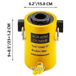 Cylindre Hydraulique Jack 60t 2 Temps Simple Intérim Hollow Ram Bonne Étanchéité